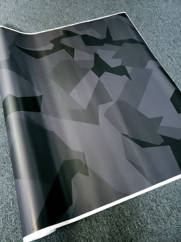 Black Out Geographic Camo / Camouflage Vinyl Wrap