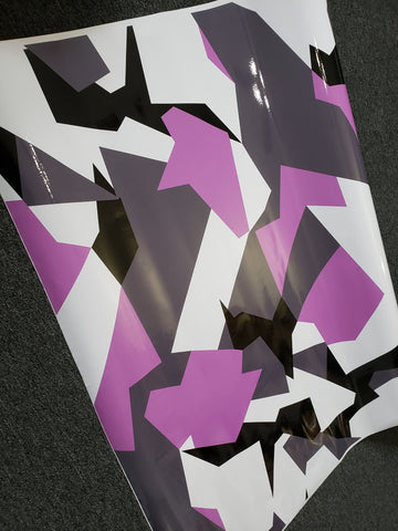 Pink Geographic Camo / Camouflage Vinyl Wrap