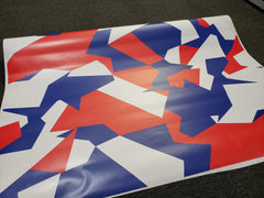Geographic Red, White & Blue Matte Vinyl Wrap