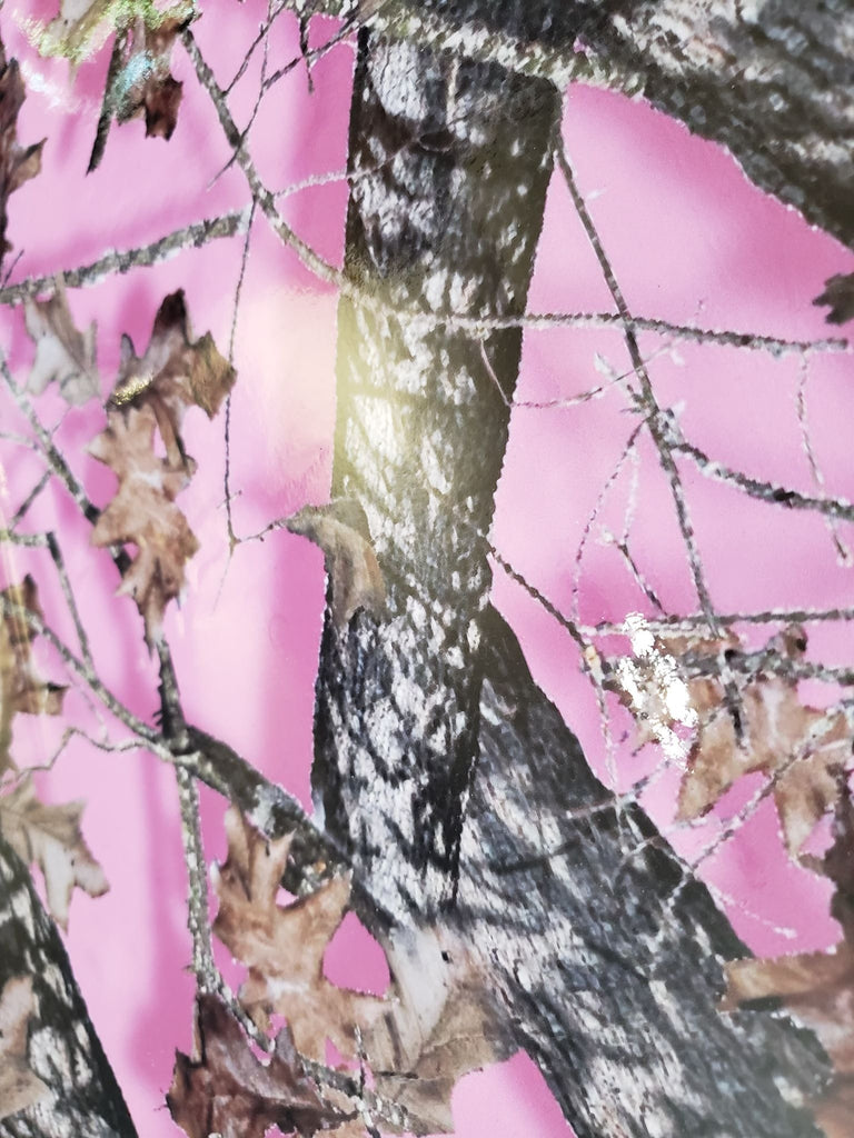 Pink Tree Camouflage Gloss Vinyl Wrap