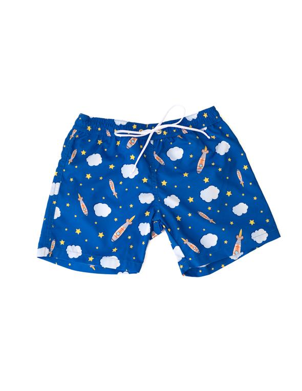 Space Boy Bathing Suit Trunks