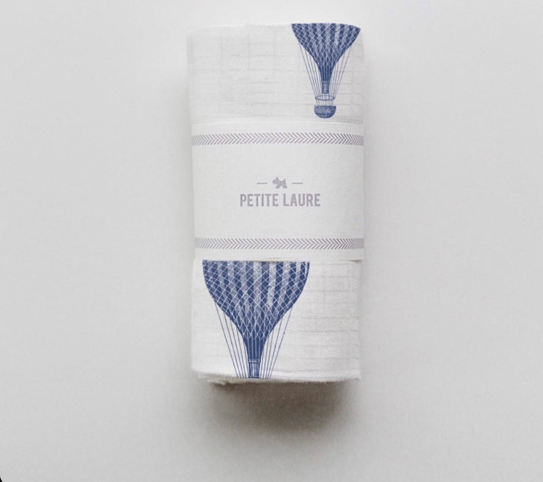 Baby Swaddle Navy Hot Air Balloons