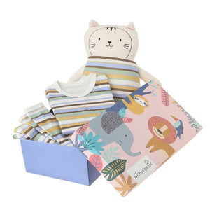 Organic Pajama Gift Set with Matching Security Doll - Dino