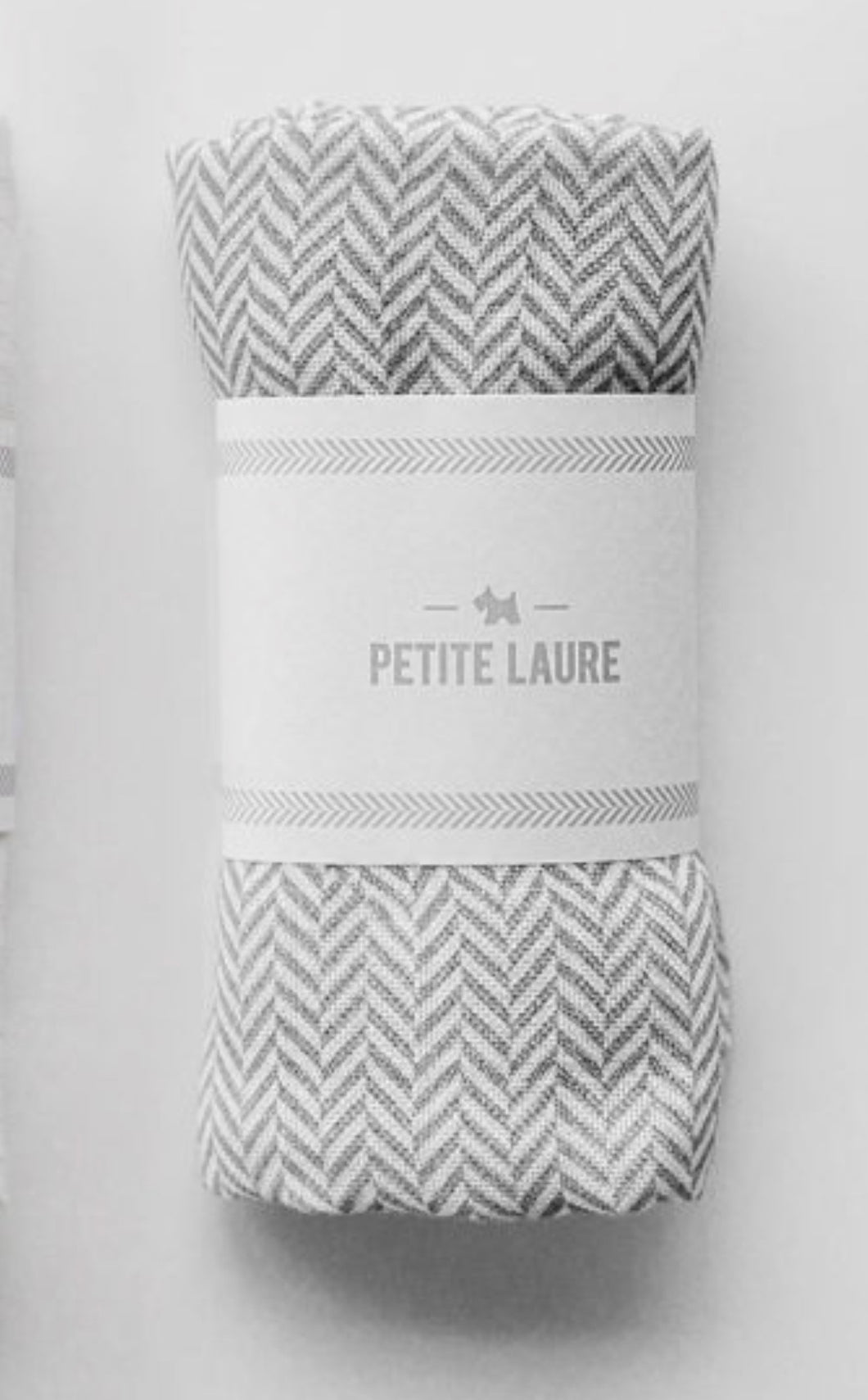 Baby Swaddle Grey Herringbone