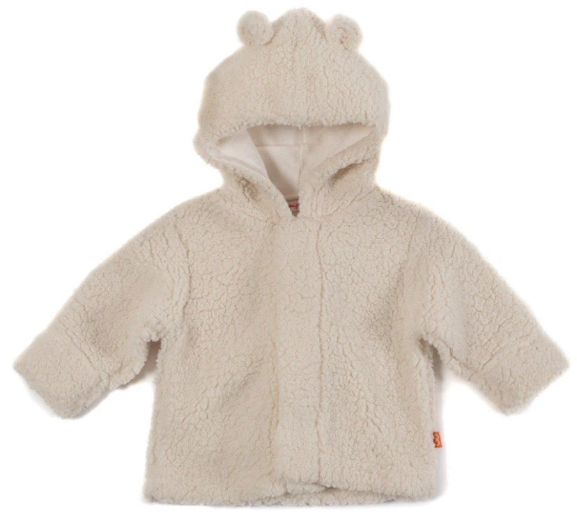 Magnetic Bears Cream Fleece Hooded Jacket