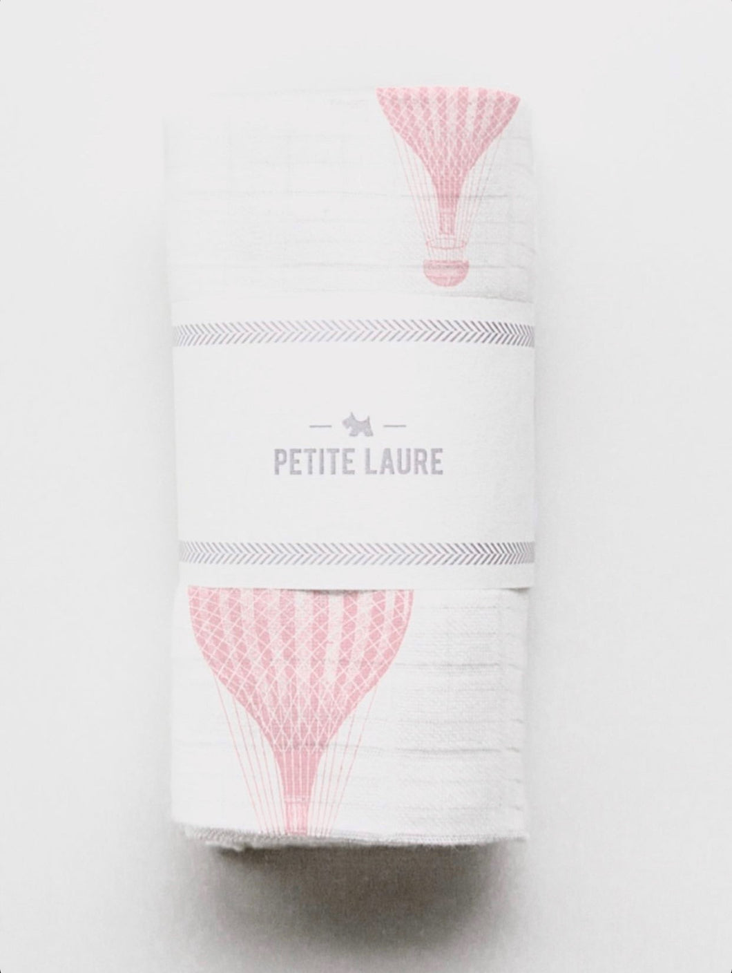Baby Swaddle Light Pink Hot Air Balloons