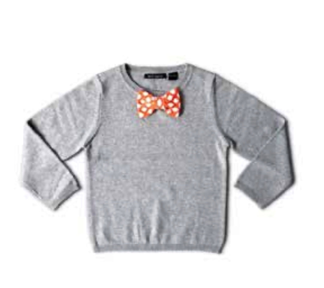 Orange Bow Tie Sweater
