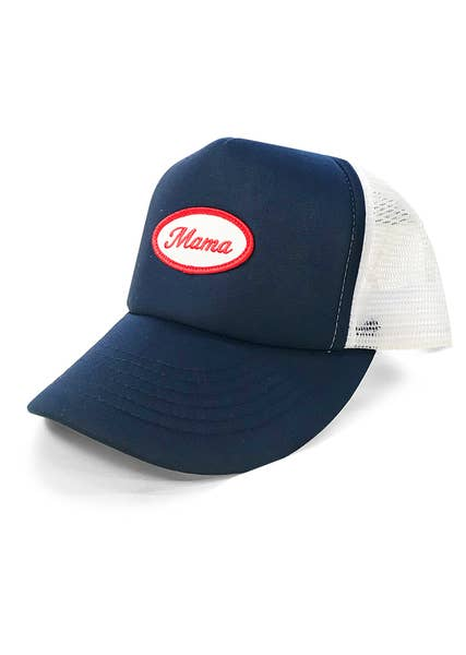 Hat - Mama Vintage Patch Trucker Hat