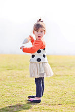 Load image into Gallery viewer, Orange Black Dots Sweater