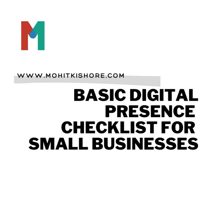 Free Checklist to help small businesses grow online. freechecklist.mohitkishore.com