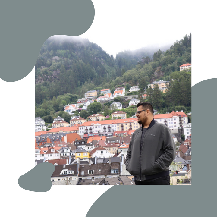 Mohit Kishore an entrepreneur standing at the edge of Norway.