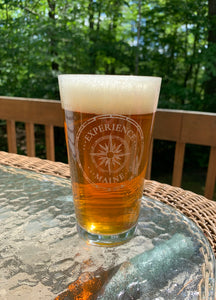 Compass Rose Pint Glasses
