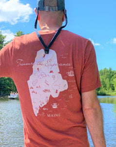 Treasure Your Maine Experience - Maine Map T-Shirts