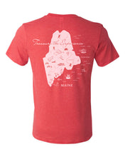 Load image into Gallery viewer, Treasure Your Maine Experience - Maine Map T-Shirts