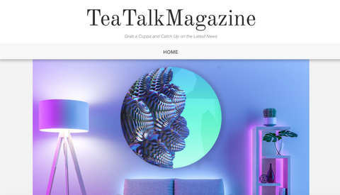 In The Press Penelope and Parker Feature In Tea Talk Magazine With Their Fractal Artwork And Fashion