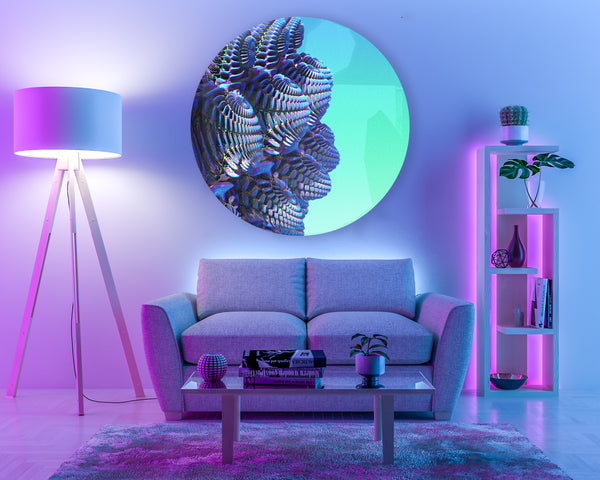 neon interior acrylic crystal glass by Penelope and Parker, london and Dubai