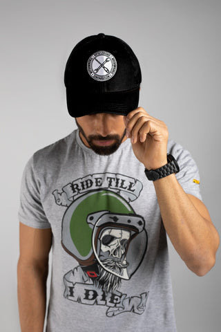 Wrench And Screw Black Trucker Cap