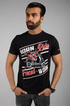 Born to Ride Forced to Work Graphic Print T-Shirt