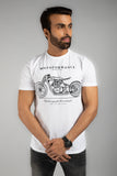 Bike Blue Print Graphic T-Shirt