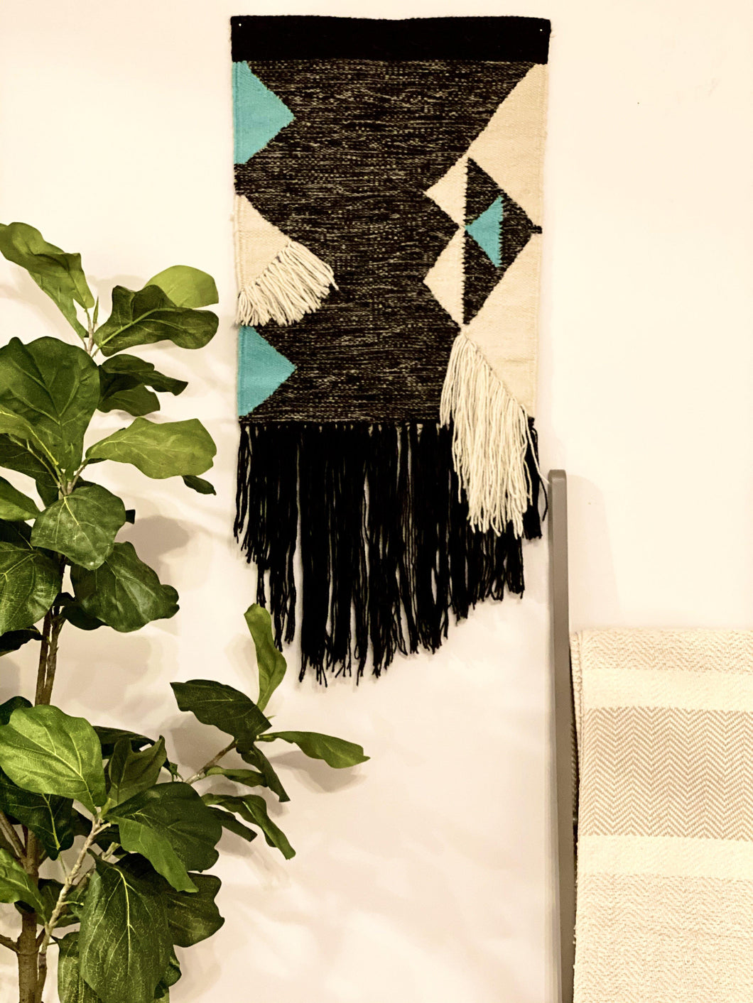Handwoven Triangles Wallhanging