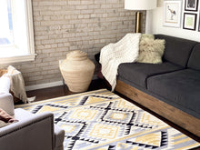 Load image into Gallery viewer, Yellow Southwestern Rug