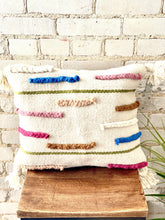 Load image into Gallery viewer, Cream Braids Pillow with tassels