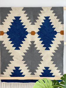 Blue Diamonds Rug
