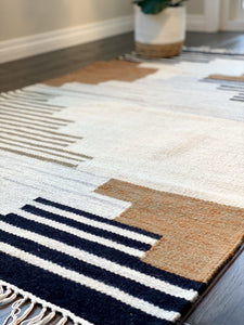 Neutral Geometric Modern Rug