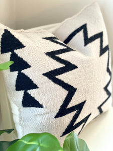 Handwoven Cream Tia Throw Pillow