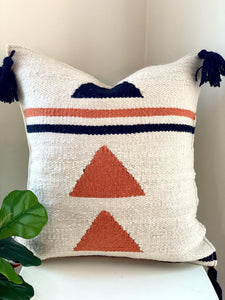 Handwoven Triangles Throw Pillow