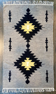 Grey Aztec Arrows Rug