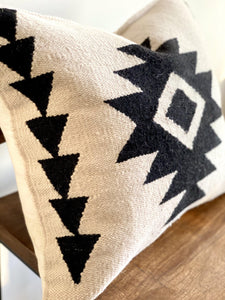 Handwoven Cream Lily Pillow