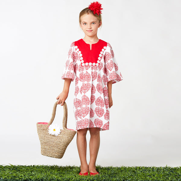 The Florence Dress girls sewing pattern