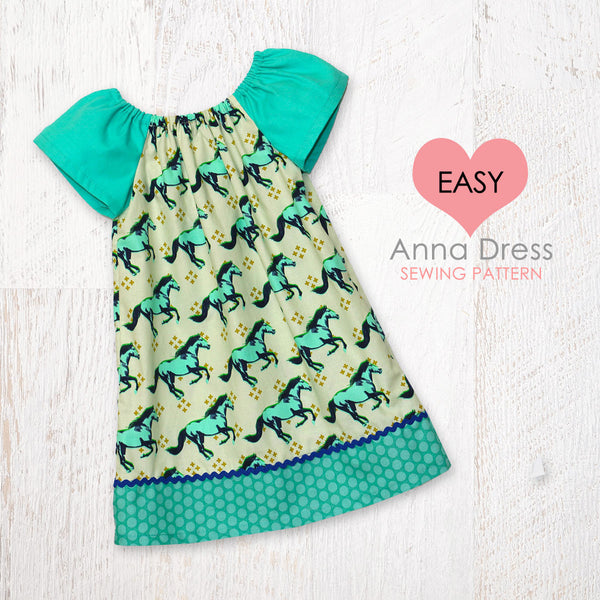 Easy Beginner Peasant Dress Pattern - ANNA