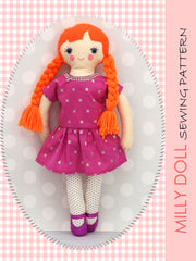 18 inch doll sewing pattern Milly
