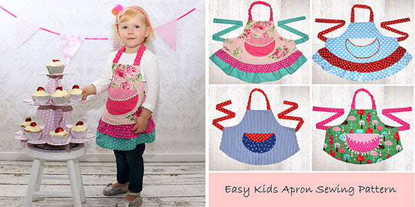 kids apron pattern, apron sewing pattern