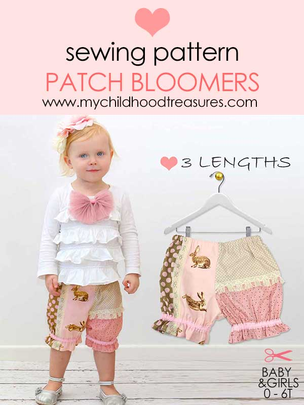 baby bloomers pattern, baby sewing pattern