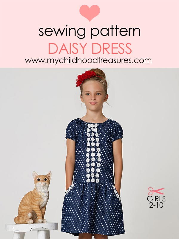 Daisy girls dress sewing pattern