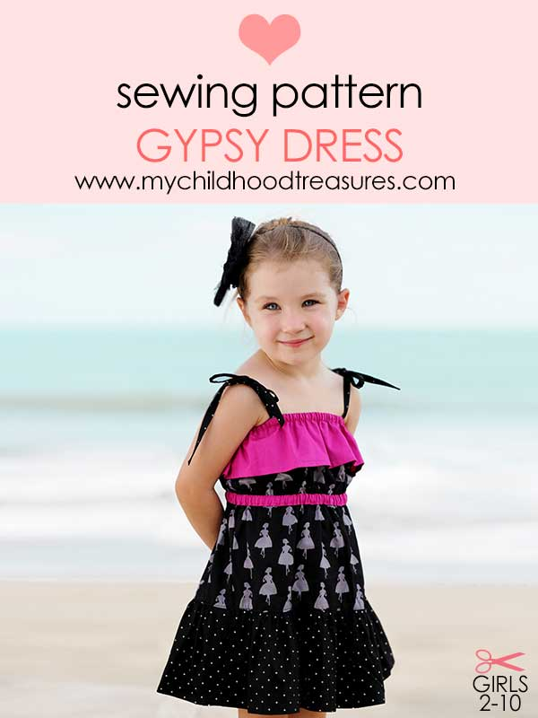 girls dress pattern, dress sewing pattern, kids sewing pattern, easy pattern