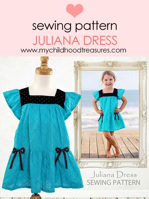 girls dress pattern, childrens sewing pattern, kids sewing pattern