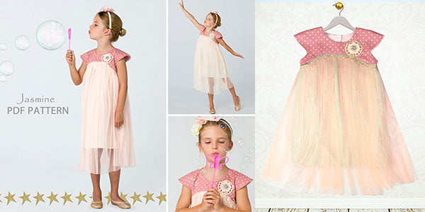 tutu dress pattern, sewing pattern, girls childrens sewing pattern