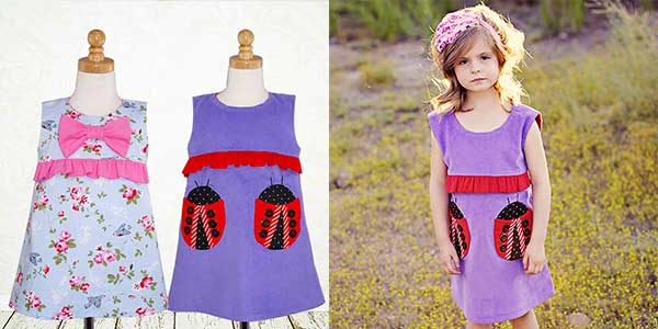 girls dress sewing pattern, girls sewing pattern, childrens sewing pattern