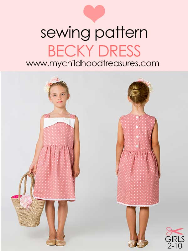 dress sewing pattern, girls dress pattern, kids sewing pattern