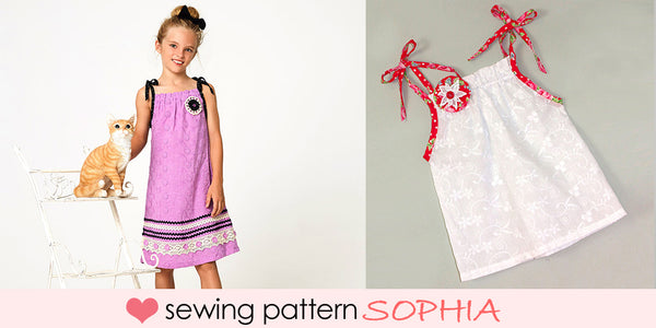 girls dress and top sewing pattern sophia