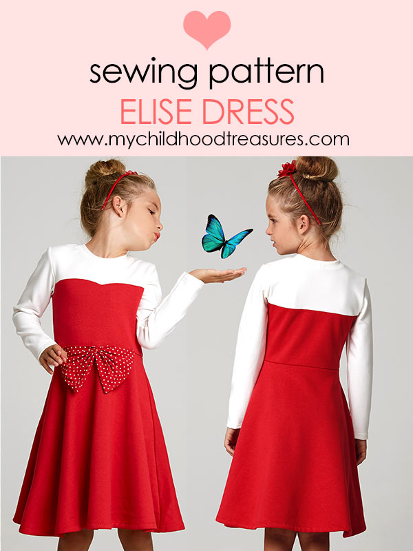 Elise stretch dress sewing pattern
