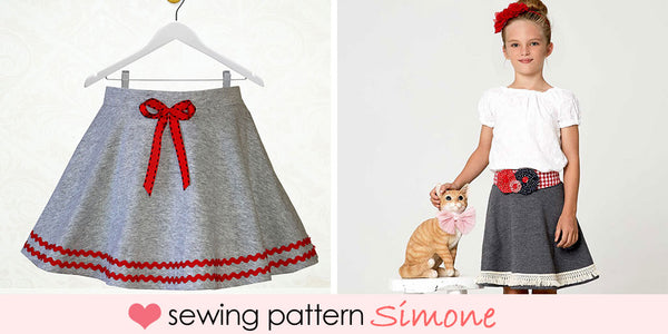 girls stretch circle skirt pattern