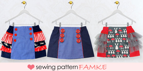 famke girls skirt sewing pattern