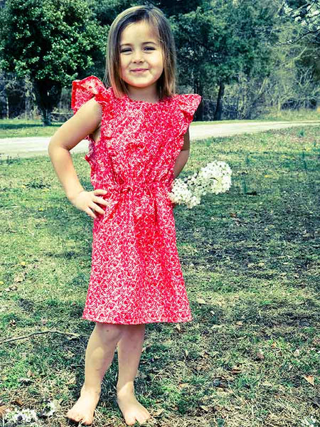 Tiffany girls dress sewing pattern