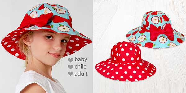 hat sewing pattern, kids hat sewing pattern, ladies hat sewing pattern