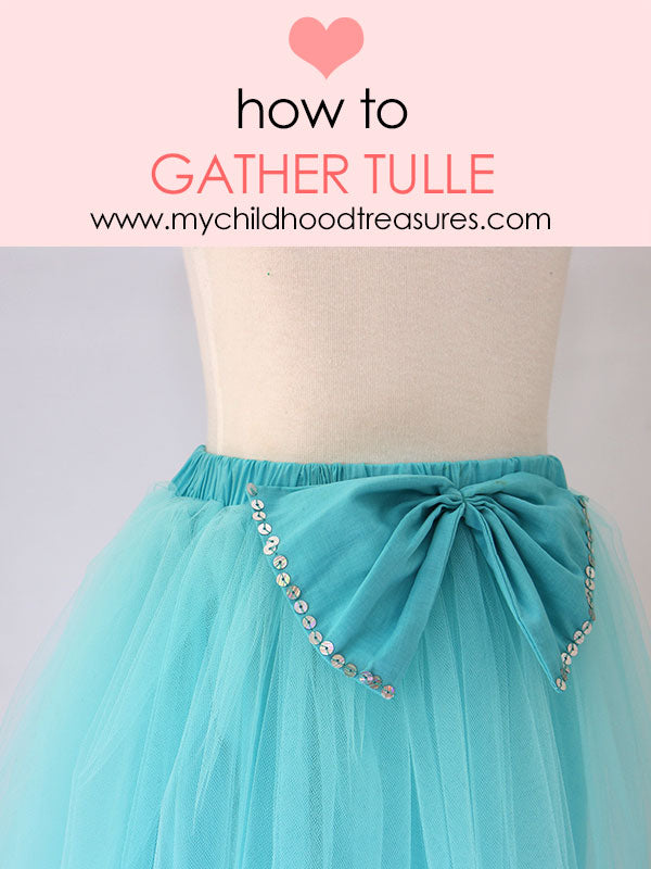 How To Sew Tulle Easy Method For Gathering Tulle And